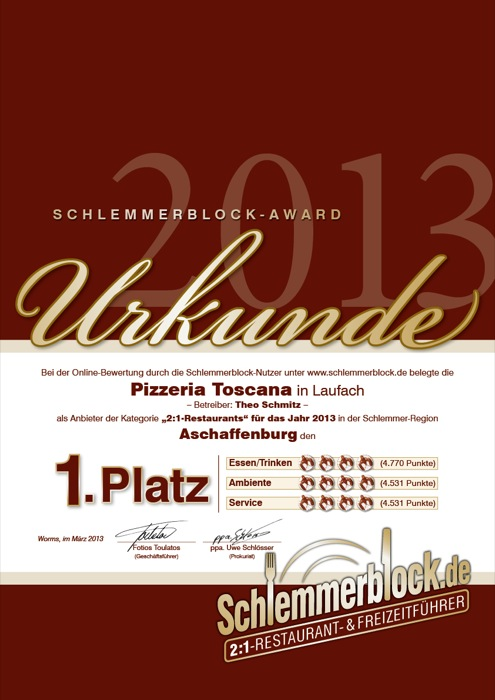 Schlemmerblock Award 2013